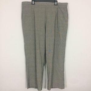 Alfred Dunner Womens 24W Black & White Dress Pants